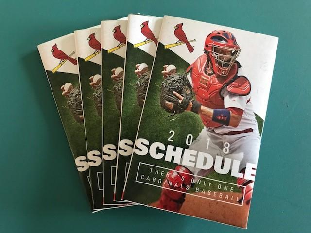 2018 Cardinal's Baseball Schedule