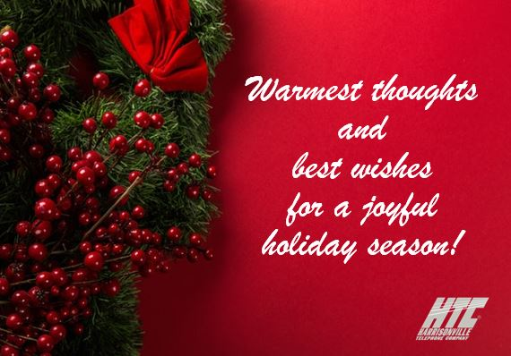 Warmest thoughts and best wishes for a joyful holiday season!