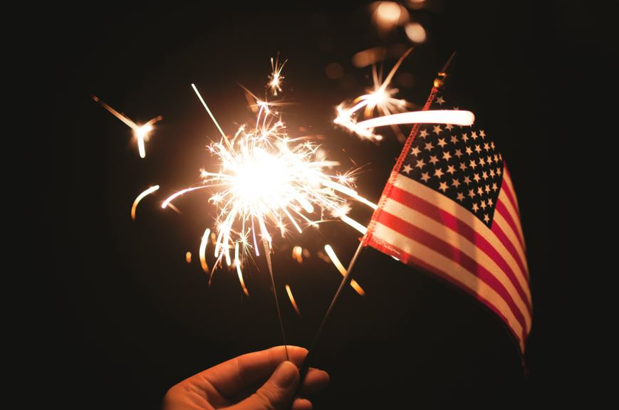 4th of July Fireworks Flag