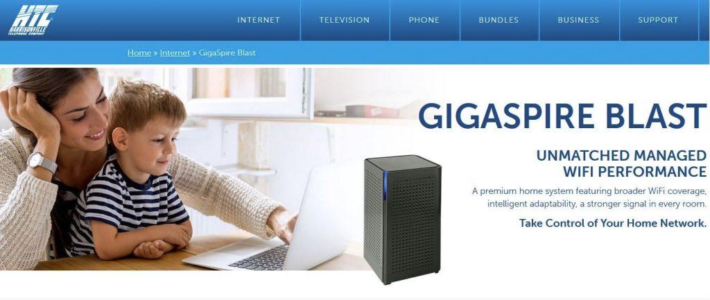Harrisonville Telephone Company better router signal GigaSpire Blast