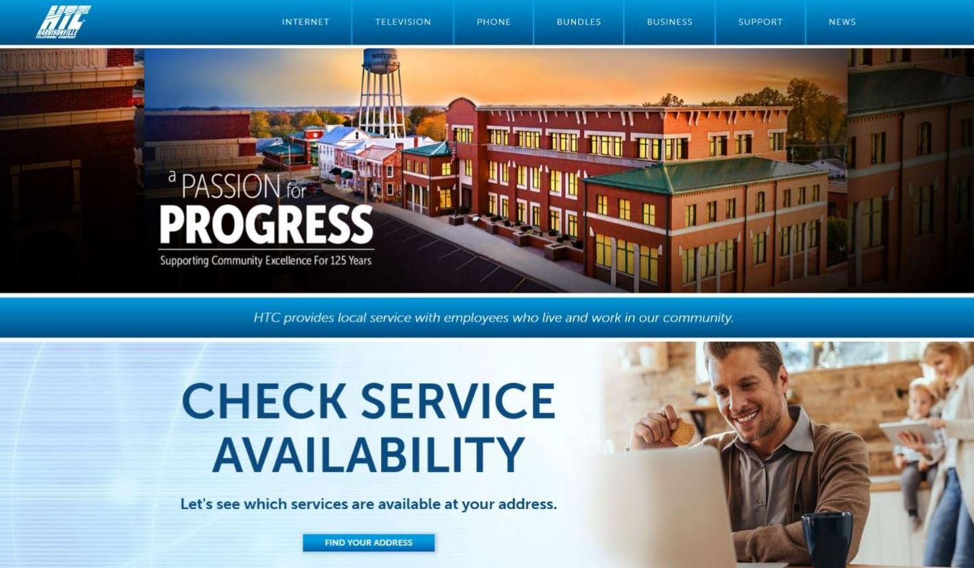 Harrisonville Telephone Company new and improved website