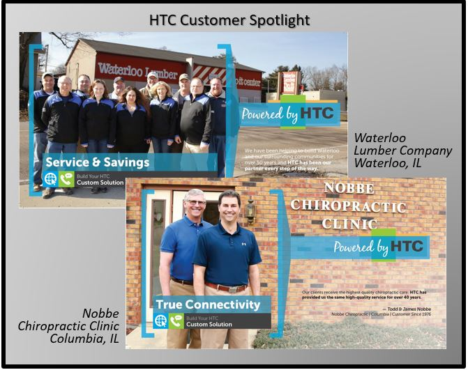 HTC business high speed internet Waterloo Lumber and Nobbe Chiropractic